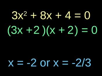Factoring and Solving polynomials - leading coefficient not 1