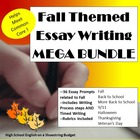 Fall (Autumn) Themed Essay Writing MEGA BUNDLE w Rubrics &