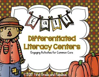 Fall Reading Activities-First Grade and Fabulous