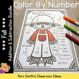 Color By Code Fall Additon and Subtraction Facts