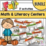 Fall Kindergarten Math and Literacy Work Station Activitie