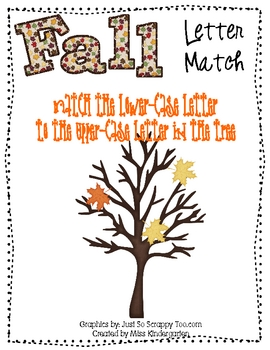 Fall Leaves Letter Match- File Folder