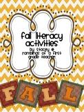 Fall Literacy Activities mini-unit