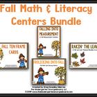 Fall Math And Literacy Creation BUNDLE!