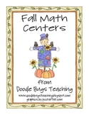 Fall Math Centers for Kindergarten or First Grade