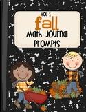 Fall Math Journal Prompts - Vol. 1