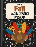 Fall Math Journal Prompts- Vol.2