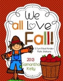 Fall Math Stations for Kindergarten