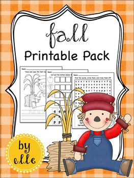 Fall Math and Literacy Printable Pack