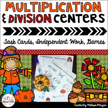 Fall Themed Multi-Digit Multiplication & Long Division Mat