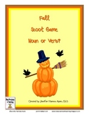 Fall Noun and Verb Task Cards