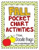 Fall Pocket Chart Activities