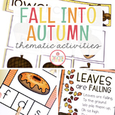 Fall: Preschool, Pre-K and Kindergarten Resources