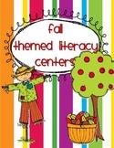 Fall Theme Literacy Centers