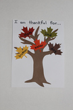 Fall Tree Project with Colored Leaves (set of 12)