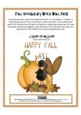 Fall Vocabulary Word Wall