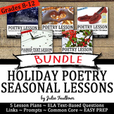 Holidays Close Reading Poetry Lessons for Secondary, BUNDL