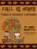 Fall is Here Math and Literacy Center Packet!!