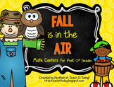 Fall is in the Air! Math Centers for PreK to 1st Grades