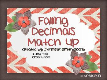 Falling Decimals- Adding and Subtracting Decimals Review Game