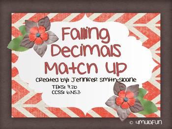 Falling Decimals- Adding and Subtracting Decimals Review Game