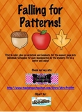 Falling For Patterns Kindergarten Fall Unit