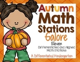 Autumn Fun Math Stations Galore-11 Differentiated and Alig
