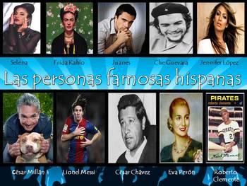 Famous Hispanics/Latinos Spanish Presentations, Games & Ac