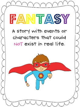 Fantasy and Reality Anchor Charts