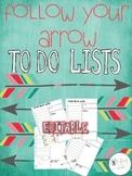Farley's Follow Your Arrow To Do Lists *editable*you custo