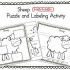 (FREE) Farm Animals: Sheep Parts - Cut & Paste and Labelin