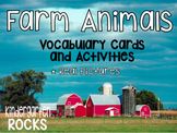 Farm Animals Vocabulary Cards and Activities