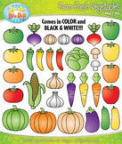 Farm Fresh Vegetables Clipart Set — Over 40 Graphics!