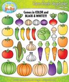 Farm Fresh Vegetables Clipart Set — Over 40 Graphics!