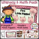 Farm Song Packet - Literacy & Math Activities - Five Littl