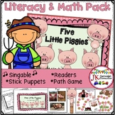 Farm Song Packet - Literacy & Math Activities - Five Littl