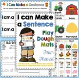 Farm I can Make a Sentence Play Dough Mats, Vocab. Cards +