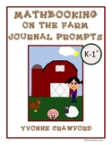 Math Journal Prompts On the Farm (kindergarten and 1st grade)