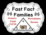 Fact Families Set-Triangle Flash Cards, Posters and Worksheets