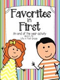 Favorites in First! An end of the year activity