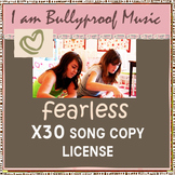 Fearless song - 30 copies for your kiddos