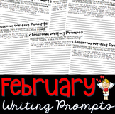 February Journal Writing Prompts Booklet: Grades 5-10 (25