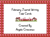 February Journal Writing Task Cards