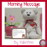 February Morning Message  DOL Common Core ELA Valentine's Day