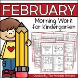 February Morning Work for Kindergarten {Common Core Aligned}