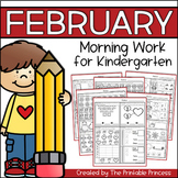 February Morning Work for Kindergarten