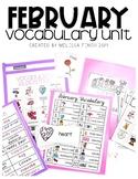 February Vocabulary Unit- Boardmaker Curriculum for Studen