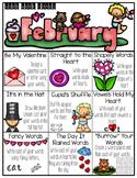 February Word Work Choice Board