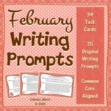 February Writing Prompts: Task Cards (Grades 7, 8, 9)