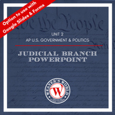 Federal Courts Powerpoint and Lecture Notes - AP Governmen